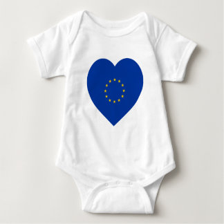 European Union Flag Heart Baby Bodysuit
