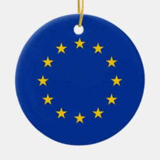 European Union Flag Heart Christmas Ornaments