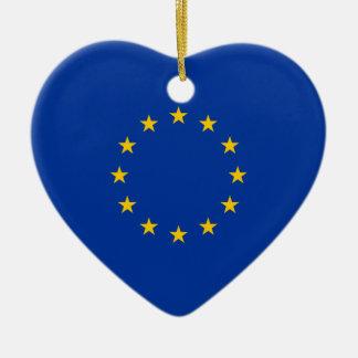 European Union Flag Heart Ornaments
