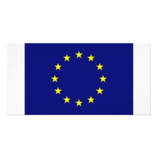 European Union Flag Photo Greeting Card
