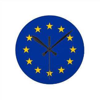 european union  flag round clock