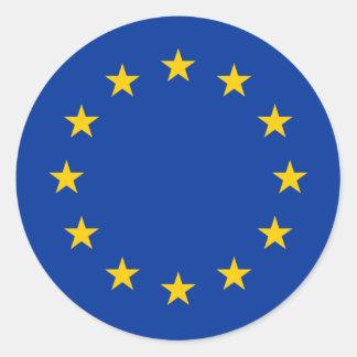 European Union flag round stickers | Eu Europe