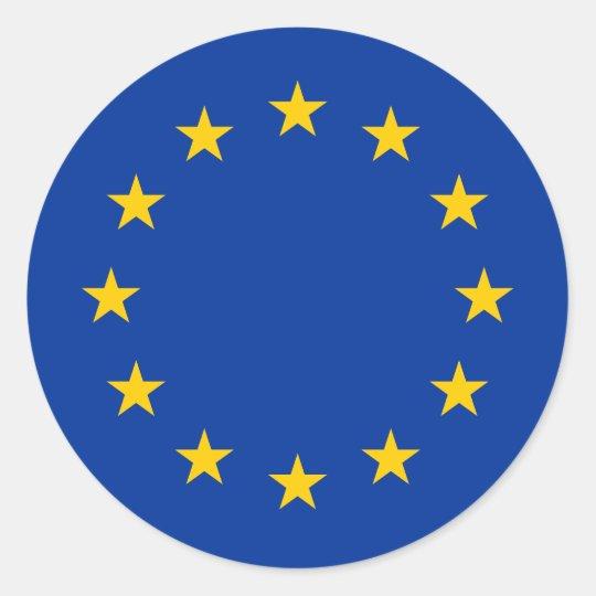 European Union Flag Round Stickers Eu Europe Zazzle Com Au