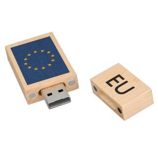 European Union flag USB pendrive flash drive Wood USB 2.0 Flash Drive