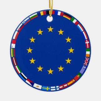 European Union Flags Ornament