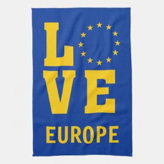 European Union LOVE Tea Towel