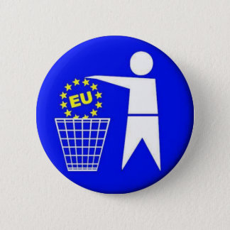 European union-protest 6 cm round badge