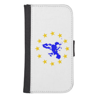 European union samsung s4 wallet case