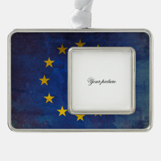 European Union Silver Plated Framed Ornament