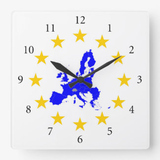European union square wall clock