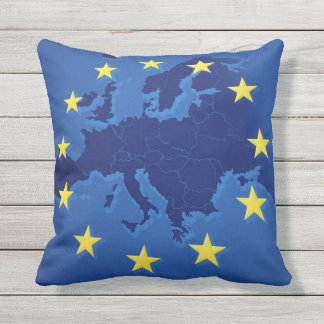 European Union Stars EU Blue Pillow