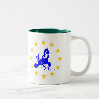 European union Two-Tone coffee mug