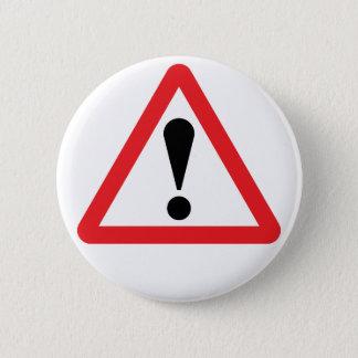 European Warning Road Sign Button