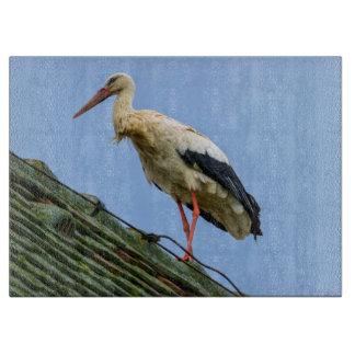 European white stork, ciconia cutting board