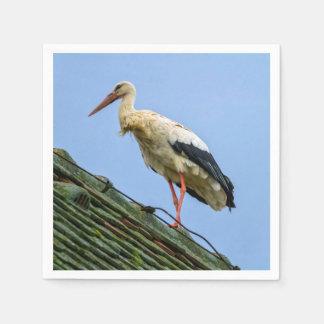 European white stork, ciconia disposable serviettes