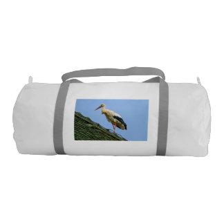 European white stork, ciconia gym bag