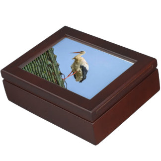 European white stork, ciconia keepsake box