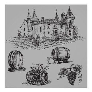 European Winery Poster