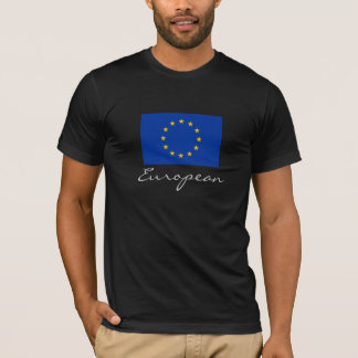 European with EU Flag T-Shirt