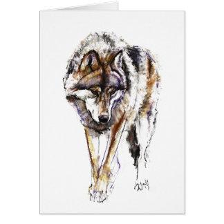 European Wolf Card