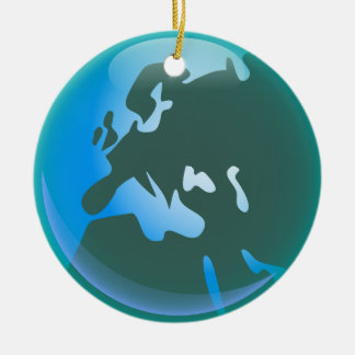 European World Double-Sided Ceramic Round Christmas Ornament