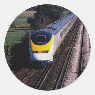 Eurostar passenger train round sticker