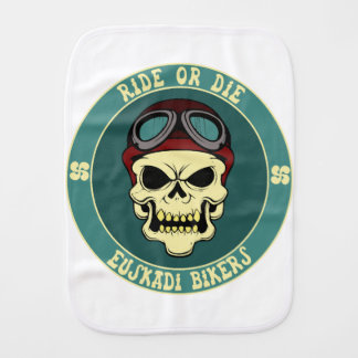 Euskadi bikers burp cloth