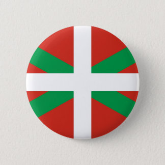 Euskadi Flag - Basque Country - Ikurri 6 Cm Round Badge