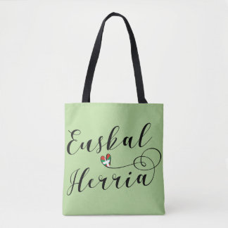 Euskal Herria Heart Grocery Bag Basque Country