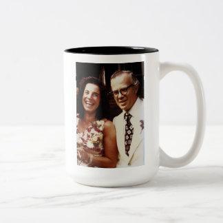Eva and John Pierrakos coffee mug