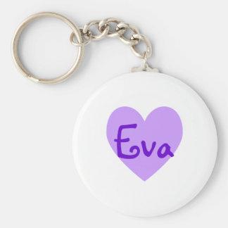Eva in Purple Key Ring