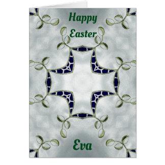 EVA ~ Personalised Easter card pattern ~