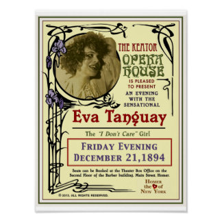 Eva Tanguay Keator Opera House Art Nouveau Poster