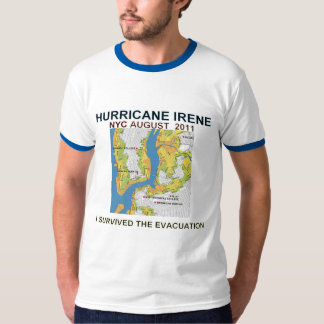 Evacuation Zones Map for Hurricane Irene Shirt