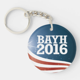 Evan Bayh 2016 Single-Sided Round Acrylic Key Ring
