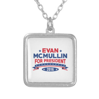 Evan McMullin For President Silver Plated Necklace