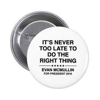Evan McMullin Quote 6 Cm Round Badge