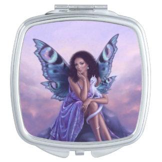 Evanescent Fairy & Dragon Square Compact Mirror