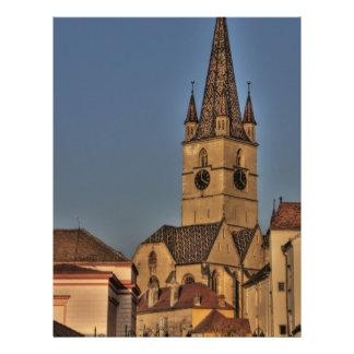 Evangelic church tower flyer