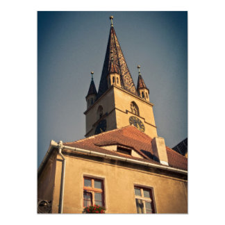 Evangelic church tower, Sibiu Personalized Invitations