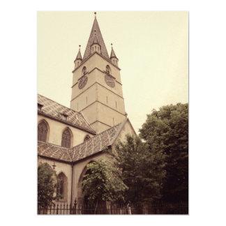 Evangelic church tower, Sibiu Custom Invites