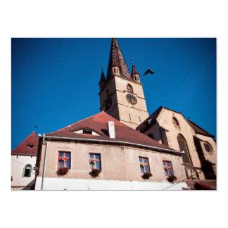 Evangelical church tower, Sibiu Personalized Invite