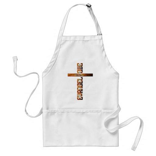 Evangélique en croix aspect braise aprons