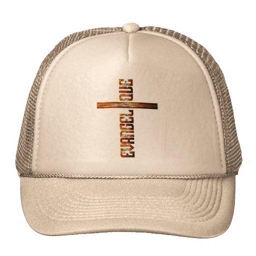 Evangélique en croix aspect braise mesh hats