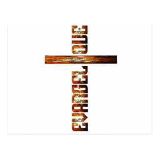 Evangélique en croix aspect braise postcard
