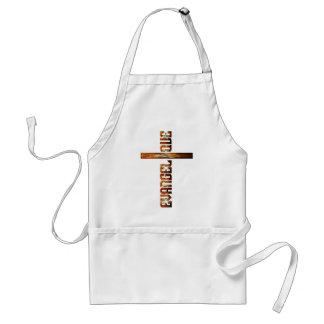Evangélique en croix aspect braise standard apron