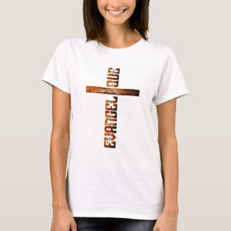 Evangélique en croix aspect braise T-Shirt