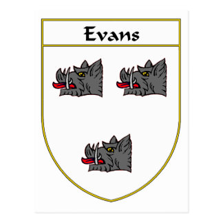 Evans Coat of Arms/Family Crest (Ireland) Postcard