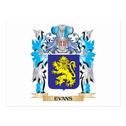 Evans Coat of Arms - Family Crest Post Cards