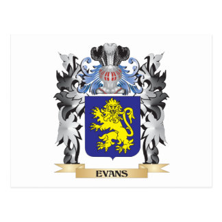 Evans Coat of Arms - Family Crest Postcard